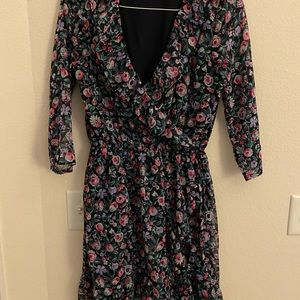 Abercrombie and Fitch floral wrap dress medium tal